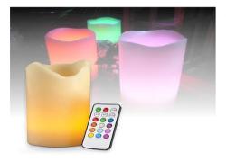 flerfärgade ljus med fjärrkontroll julen 2015