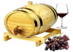trätunna vin julklappar