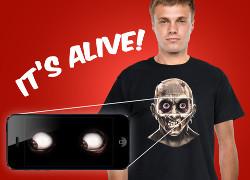 t-shirt med levande ögon