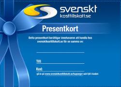 Svenskt kosttillskott presentkort