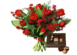 blommor romantisk julklapp