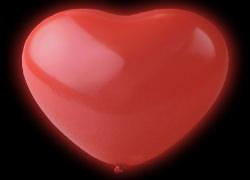 led ballonger hjärta