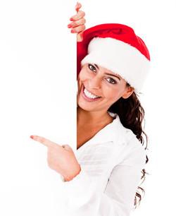 julklapp till flickvän pekar bild