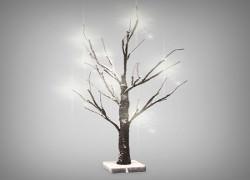 träd med snö juldekoration